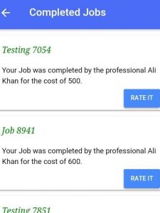 ustad client completed jobs