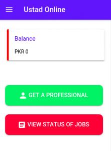 ustad client dashboard